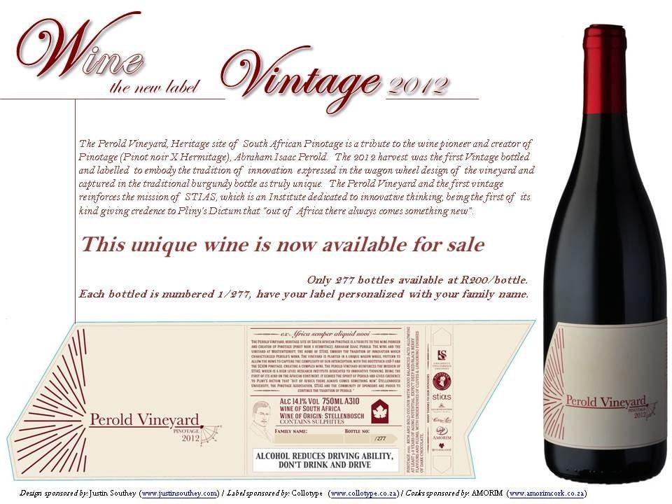 Perold Pinotage 2012