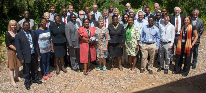 Participants of the Agricultural Transformation Roundtable at STIAS in Stellenbosch. Photo by Anton Jordaan.